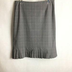 Isabella De Marco plaid Skirt w/Pleated Hem. Sz 10